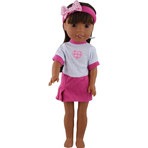 BANL Dolls Accessories - 15color Choose 1 Doll Clothes Wear Fit 14 5 inch  American Girl Dolls Wellie Wishers,Children Best Birthday Gift - by 1 PCs