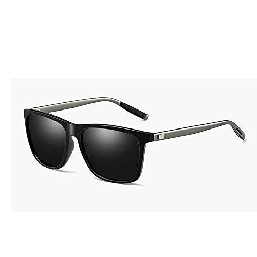 YKDDGG Mode-Accessoires Sonnenbrillen Klassische Polarisierte Sonnenbrille Männer Driving Square Schwarz Rahmen Brillen Männlichen Sonnenbrille Für Männer Polarisierte A1