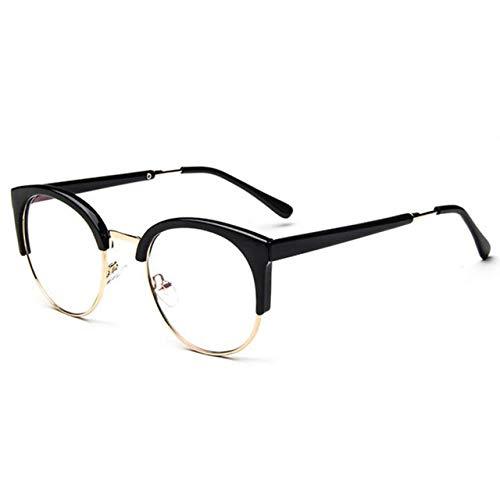 VIWIV Mode Frauen Cat Eye Brillengestell Männer Optische Glasse Retro Rahmen Brille Computer Brille Transparente Brille,4