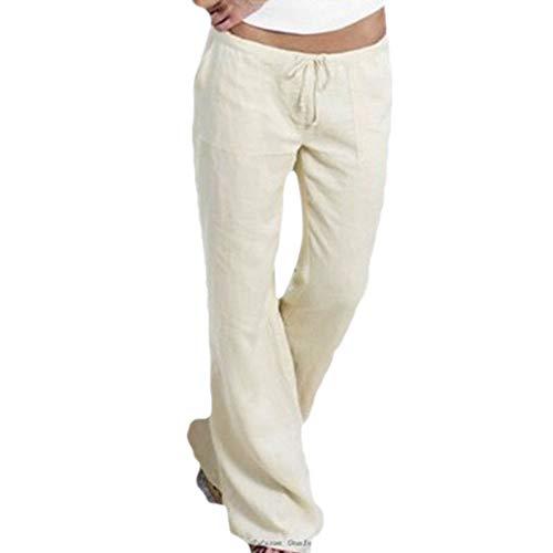 Dorical Damen Hose, Niedrig Taille Beiläufig Arbeit Kordelzug Breit Bein Ausgebeult Tasche Hose für Frauen Große Förderung(EU 32/CN ()