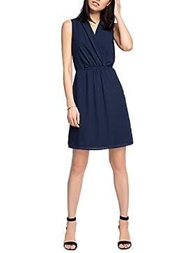 ESPRIT Collection Damen Kleid 046eo1e024 - Blickdicht Durch Unterrock