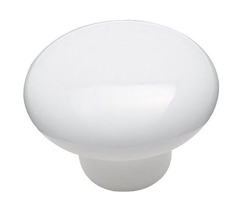 Amerock Corp 1-1/2 White Ceramic Knob