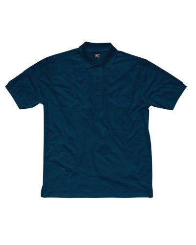 SG Herren Baumwolle Polo Shirt Blau - Marineblau