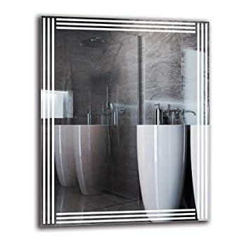 Miroir avec /éclairage Miroir Mural Miroir LED Premium Miroir de Salle de Bain Blanche Chaude 3000K Miroir Lumineux ARTTOR M1CP-45-40x40 Pr/êt /à laccrochage Taille du Miroir 40x40 cm