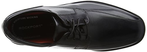 Rockport Herren Essential Details II Bike Black Leather Derbys Schwarz (Black)