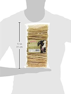 Howlers Natural Rawhide Twists, 13 cm, Pack of 100