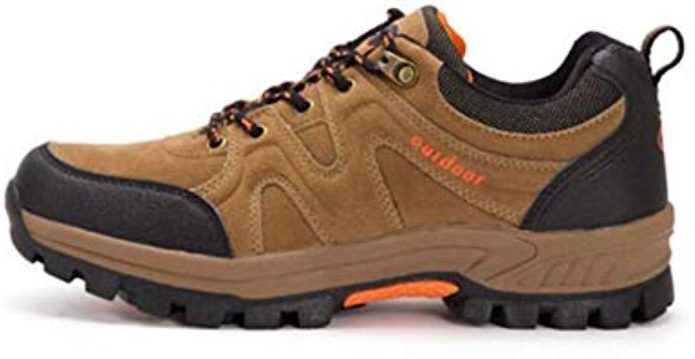 FH Chaussures de randonnée Plein Chaussures de Course Cross-Country  Chaussures de Plein randonnée air pour Hommes (Couleur   Brown... 59a8e4 c254176bbd5e