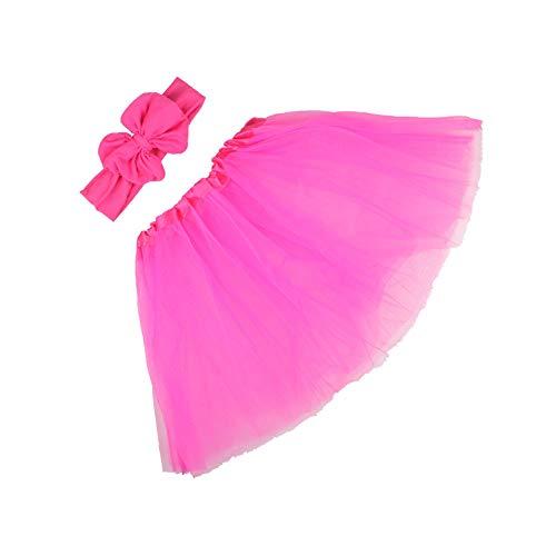 asy geschichtet tanzenden Tutu Rainbow Bustle Skirt(Hot Rosa,One Size) ()