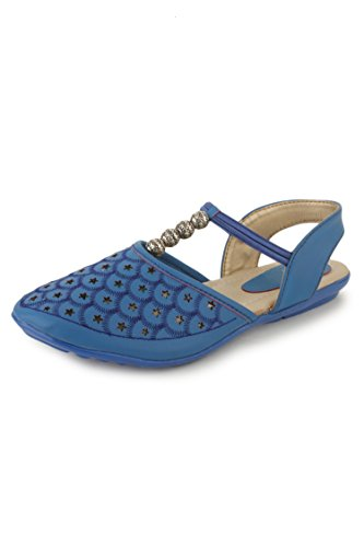 N-Gal Women's Blue Leather Slingback Sandals - 6.5 UK