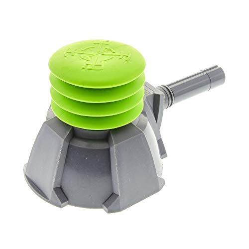 1 x Lego System Luft Pumpe neu-dunkel grau Luftdruck Schießer Lime grün Air Blast Launcher Base Racers 87941 88496 87943 -