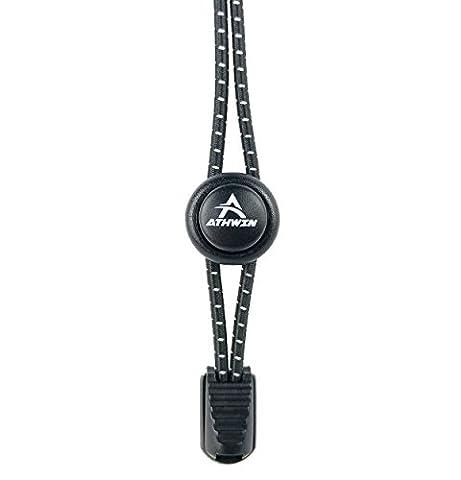 ATHWIN LACES – Schnellschnürsystem – 1 Paar elastische Schnürsenkel mit Schnellverschluss – Perfekter Sitz und einzigartiger Komfort – (Acht Knoten-knopf)