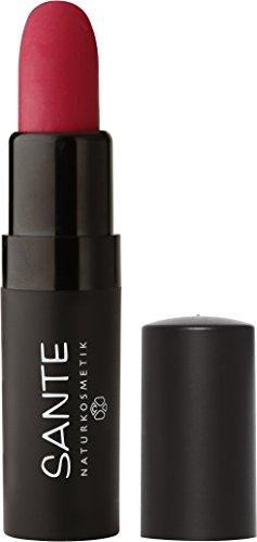 SANTE Naturkosmetik Lipstick Mat Matt Matte Lippenstift, 03 Velvet Pink, Matt-Effekt, Intensive Farbpigmentierung, 4,5g Hot Pink Matte