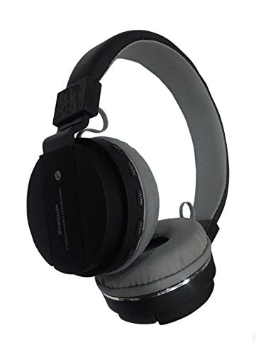 ROTTO Wireless & Bluetooth Headphone with FM and dsh147 SD Card Slot dsh 147 with Music and Calling Controls (Black)