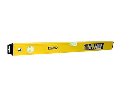 Stanley Wasserwaage Klassik (60 cm Länge, horizontale/vertikale Libelle, Schockabsorber, Genauigkeit ±0.5mm/m) STHT1-43103