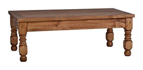 MiaMöbel Couchtisch Mexico 110x40x66 cm Mexico Möbel Landhausstil Massivholz Pinie Honig