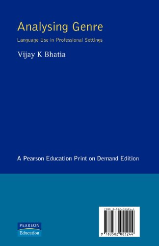 Analysing Genre: Language Use in Professional Settings (Applied Linguistics and Language Study)