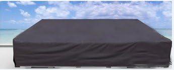 Elevavie Schutzhülle Abdeckung schwer für Gartenmöbel Gartenstuhl, Gartentisch, Sitzgruppe Wasserdicht (315x160x70cm/124x62.99x27.55inch)