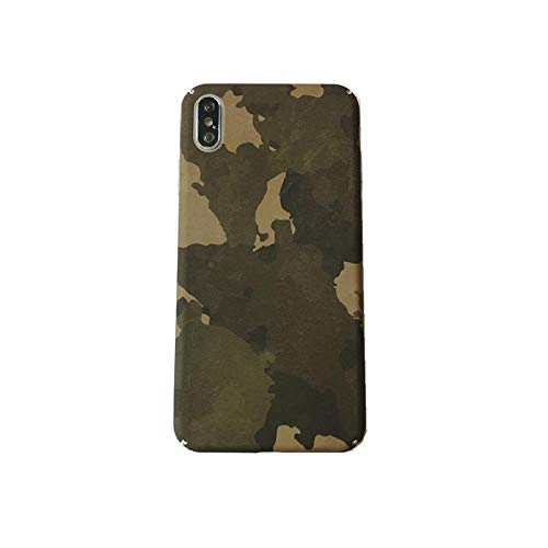 SHOUJIQQ iPhone Hülle,Apple Handy Shell Army Green Camouflage Frosted Harte Schale All-Inclusive-Classic Wear-Resistant Anti-Fall Für Das iPhone Plus 7/7/8/8 Plus -