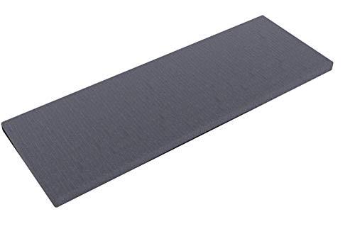 INWONA IKEA Kallax Regal Sitzauflage 111 x 39 x 4 cm Sitzpolster Sitzbank-Auflage Sitzkissen/Auflage für Sideboard als Sitzbank/unempfindlicher Bezug/Farbe GRAU ANTHRAZIT