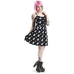 Jawbreaker Blanco calavera vestido negro