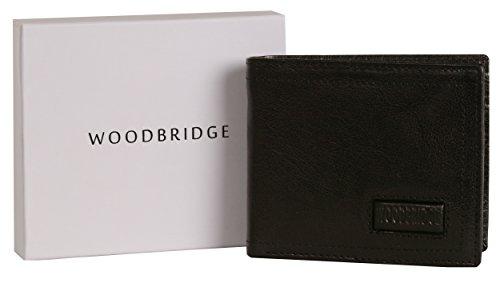 Woodbridge Vintage portafoglio da uomo in pelle a portafoglio-7sezioni di
