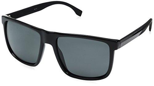 BOSS Hugo Herren 0879/S Ra Sonnenbrille, Schwarz (Bk Carbonbk/Grey Pz), 57