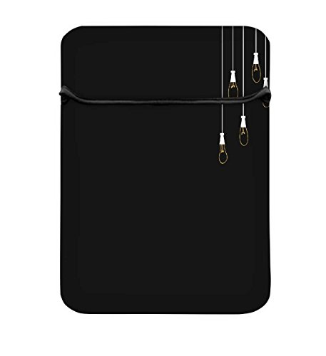 Snoogg Leuchtmittel 25,4cm einfachen Zugang Gepolstertes Laptop Schutzhülle Flip Sleeve Tasche
