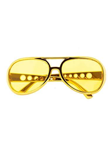 DISBACANAL Gafas Elvis - Amarillo
