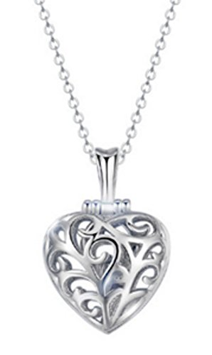 SaySure - S925 Silver CZ Crystal Heart Pendants