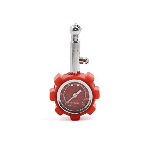 Preisvergleich Produktbild sourcingmap® Rot 0-7 kg / cm2 Reifen Reifendruck Manometer Gauge für Auto Fahrzeug