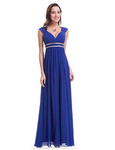 Ever Pretty Damen Elegant V-Ausschnitt Ärmellos Lang Abendkleid 38 Größe Pfrisch