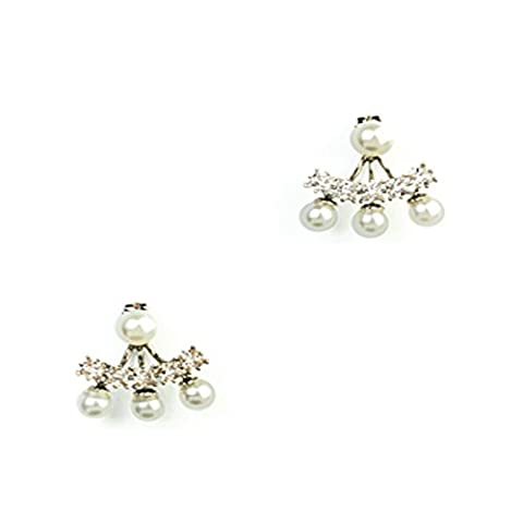 Womens Earring (PEARL AND DIAMONTE ARCH SWING)