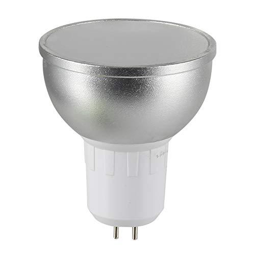 P12cheng WiFi-Smart-Glühbirne, E27/GU10/GU5.3, dimmbar, RGBW-LED, WiFi, Smart-Glühbirne für Alexa Google Home, Silber Gu10, Kunstharz, silber, Gu5.3