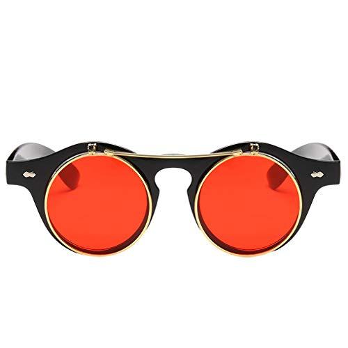 Luckiests Unisex Offnet Dampf-Punk-Sonnenbrille Öffnen Objektive Sonnenbrillen UV 400 Schutz Weiblich Männlich Brillen