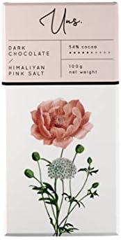 Uns Himalayan Pink Salt-54% Dark Chocolate (100g)