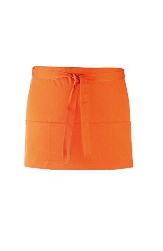 Premier 'Colours' 3 Tasche Schürze Orange One - Smock Taille Shirt