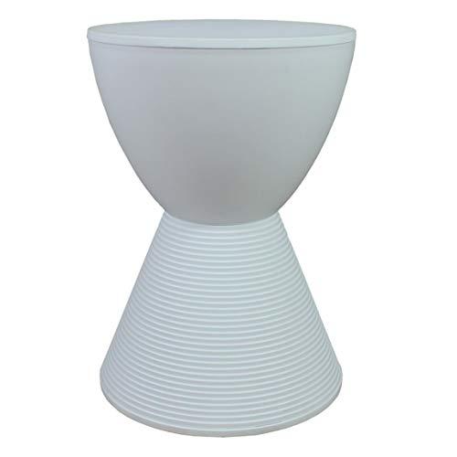 YYHSND Kreative Kunststoff hocker hocker einfache hocker Schuhe hocker Sofa Stuhl Multi Farbe optional 30x40 cm Barhocker (Color : White) - Stapelbarer Outdoor-stuhl