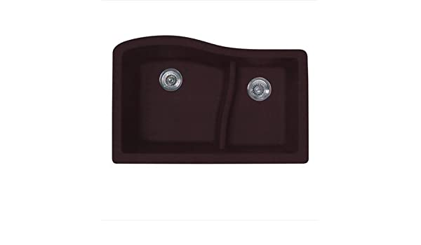 Swanstone quls-3322-018 32 von 53, 3 cm Granit groß/klein Doppelnapf ...