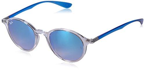Ray-Ban Rayban Unisex-Erwachsene Sonnenbrille 4237 Transparent/Browngradbrownmirrorblue, 50