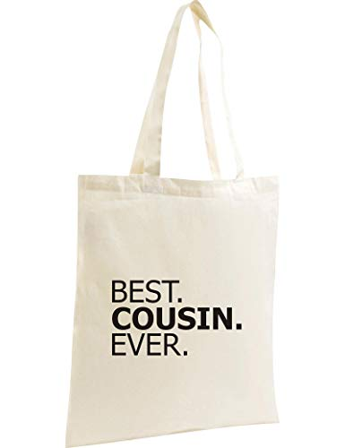 Shirtstown Organic Sac, Shopper Best. Cousin. Ever - Nature, 37 cm x 42 cm