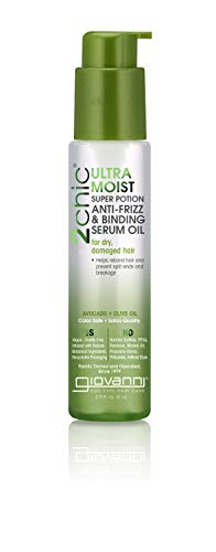 Giovanni, 2chic, Ultra-Moist Super Potion Anti-Frizz & Binding Serum Oil, Avocado & Olive Oil, 1.8 fl oz (53 ml) -