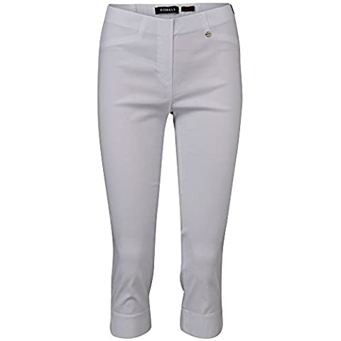 Robell Marie 07 Slim Fit Stretch pull-on pants Ladies Capris cropped #Marie 07 (42, white(10))