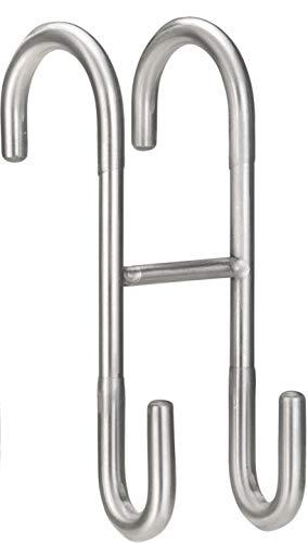 Golden Lutz® Haken 1 Wendehaken Handtuchhalter aus rostfreiem Edelstahl, gebürstet - Kleben oder Schrauben -