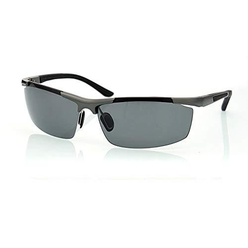 Jinxiaobei Herren Sonnenbrillen Sport polarisierte Sonnenbrille UV400-Schutz polarisierte Designer-Mode Sport-Sonnenbrille for Baseball Radfahren Angeln Golf Superlight Frame (Color : Gray)