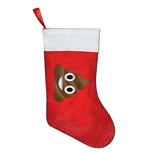 gthytjhv Shit Happens Humor Poop Personalized Christmas Stocking for Boys Girls Men Women 42x26cm