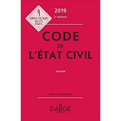 Code de l'état civil 2019, annoté - 2e éd.