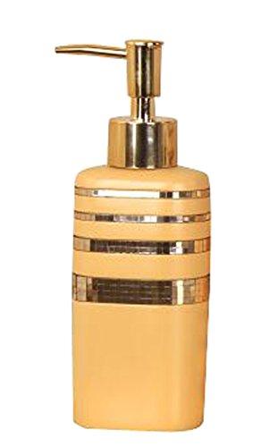 Résine style rétro Distributeur de savon Lotion Bottle Shampoo Container [Or]