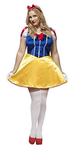 Smiffy's Smiffys-41000X2 Disfraz de Cuento de Hadas con Curvas de Fever, con Vestido, Enagua incorp Color Azul XXL - EU Tamaño 52-54 41000X2