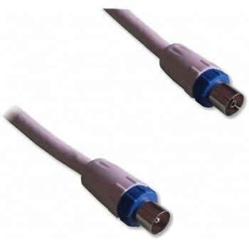 Lineaire PRO Câble TV mâle/femelle 9,5 mm 2 m Blanc