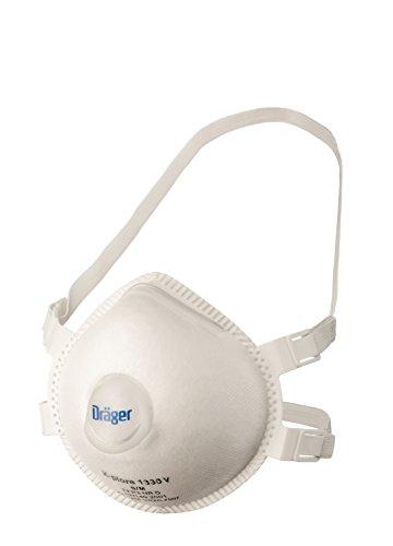 Dräger X-plore 1330 FFP3 Atemschutz-Maske mit Ventil | Mundschutz als wirksamer Filter Gegen Fein-Staub und Partikel | 5 Stück Atemmaske in Größe S/M